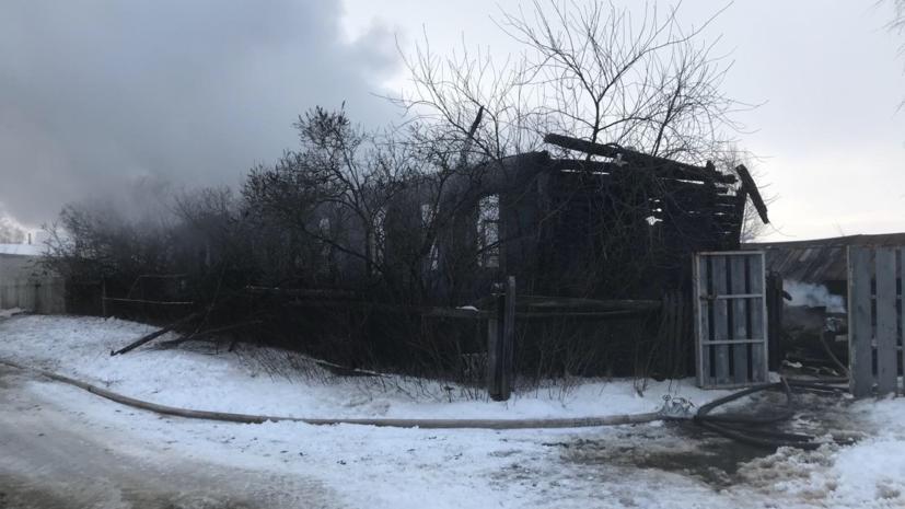 Три человека погибли при пожаре в доме в Нижегородской области