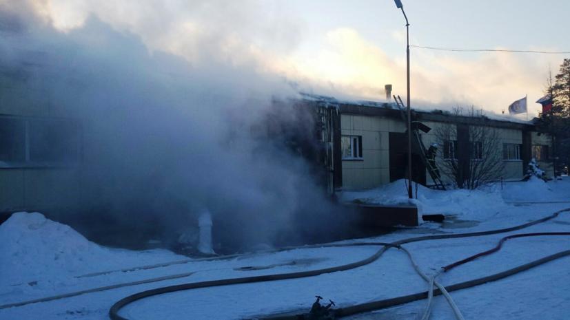 В ЯНАО произошёл крупный пожар в торговом центре