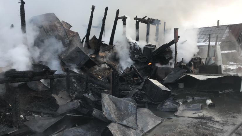 Число погибших при пожаре под Нижним Новгородом достигло четырёх