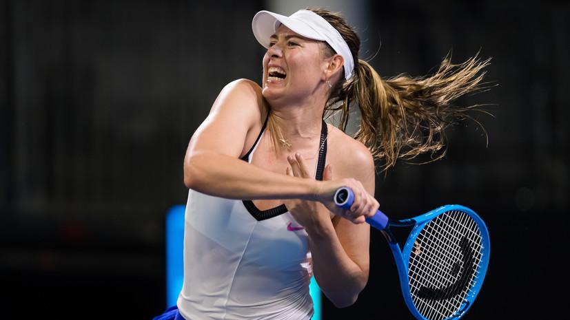 Шарапова рассчитывает получить уайлд-кард на Australian Open