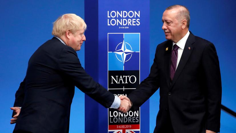 Джонсон провёл переговоры с Эрдоганом по ситуации на Ближнем Востоке