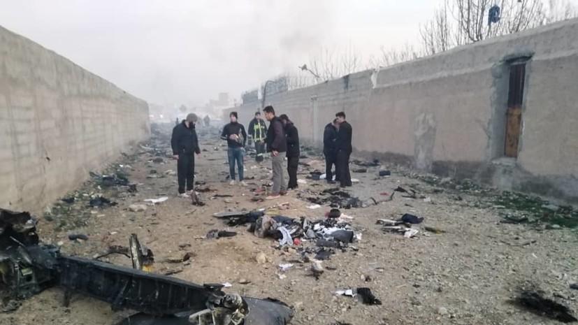 При крушении украинского лайнера в Иране никто не выжил