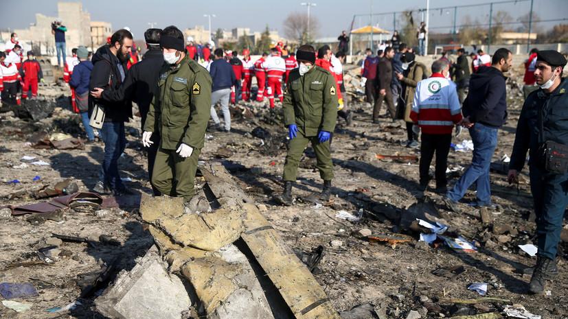 Посольство Украины изменило сообщение о крушении самолёта в Иране