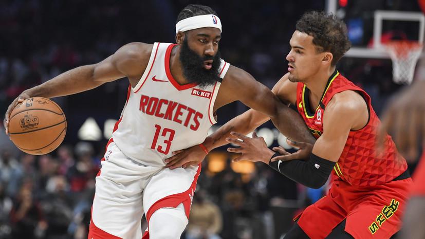Трипл-дабл Хардена помог «Хьюстону» обыграть «Атланту» в матче НБА