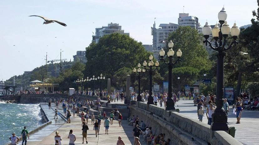 В Крыму заявили о росте числа туристов с Украины