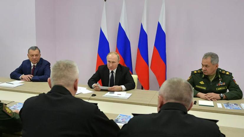 Путин поручил сделать электронной документацию по новым кораблям