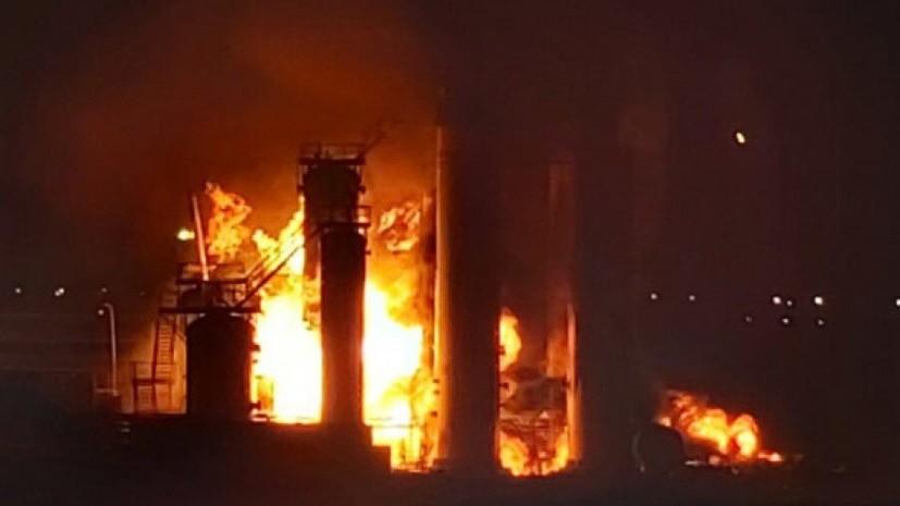 В Ухте ликвидировали открытое горение на НПЗ