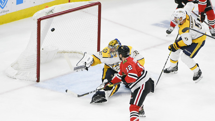 Вратарь «Нэшвилла» Ринне забросил шайбу в матче НХЛ