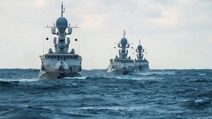 Корабли и суда Каспийской флотилии начали учения