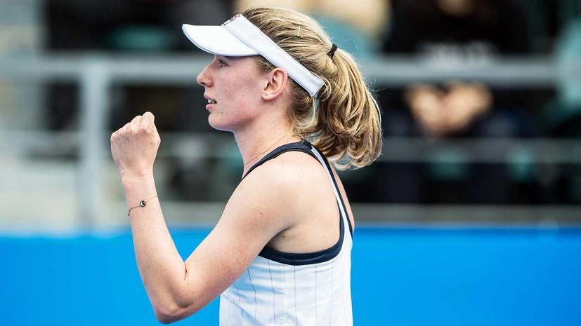Александрова победила Рыбакину и выиграла турнир WTA в Шэньчжэне