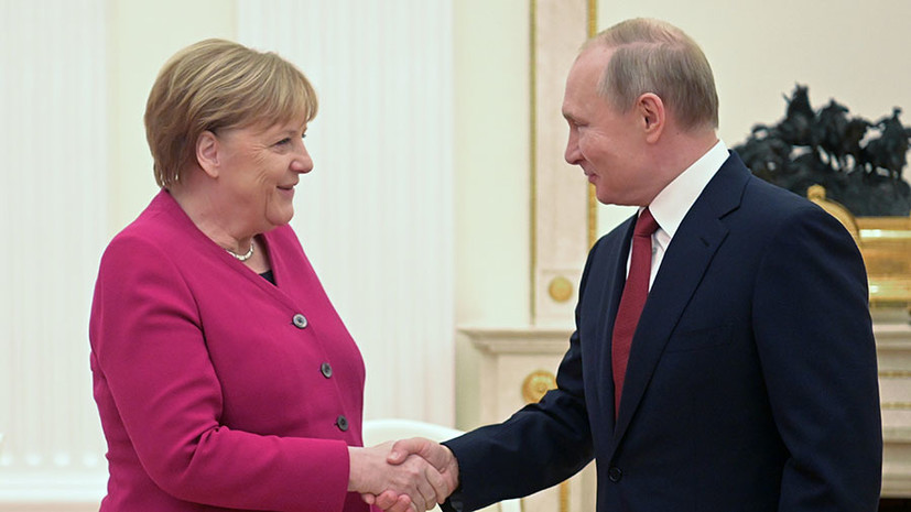 «Довести до конца»: Путин и Меркель заявили о необходимости достроить «Северный поток — 2»