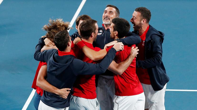 Сборная Сербии по теннису выиграла ATP Cup
