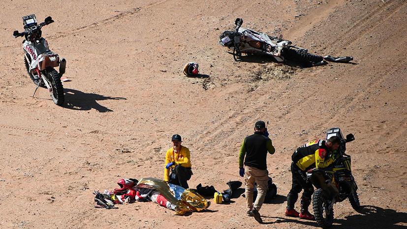«Им восхищались и вдохновлялись»: восьмой этап «Дакара» в зачёте мотоциклов отменён после гибели Гонсалвеша