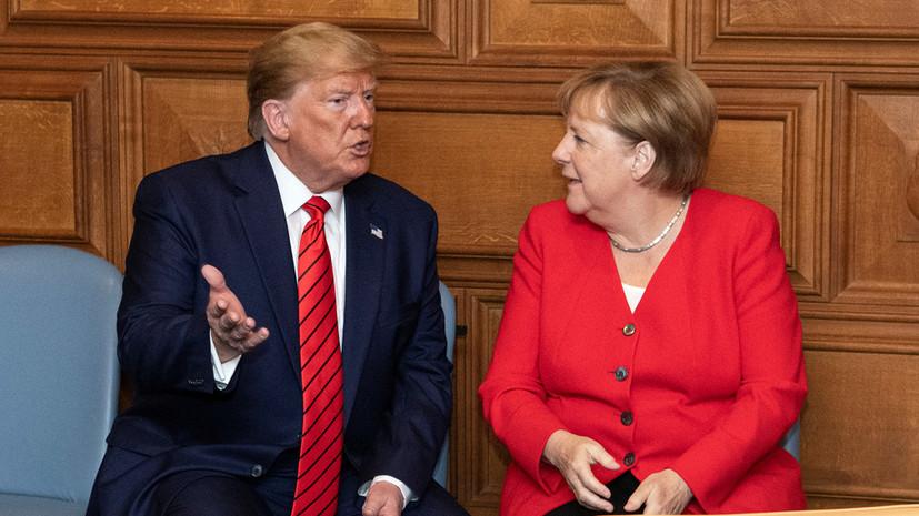Трамп обсудил с Меркель ситуацию на Ближнем Востоке