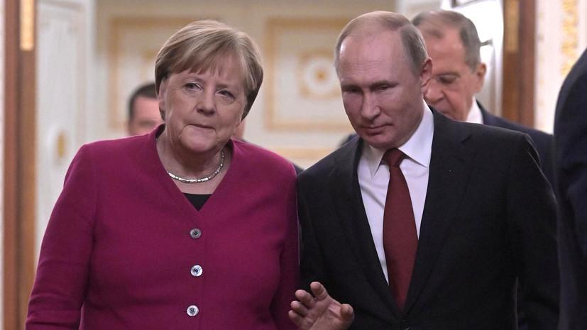 Путин и Меркель обсудили ливийское урегулирование
