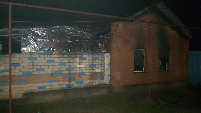 При пожаре на Ставрополье погибли два человека