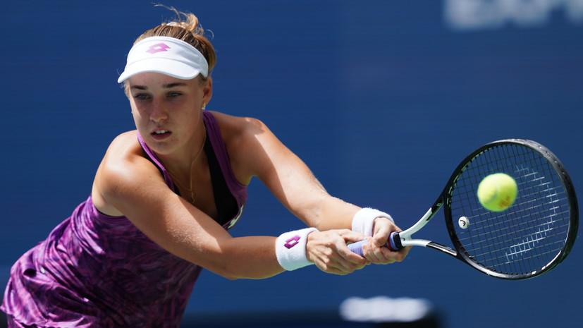 Блинкова проиграла Джабир в первом круге турнира WTA в Хобарте