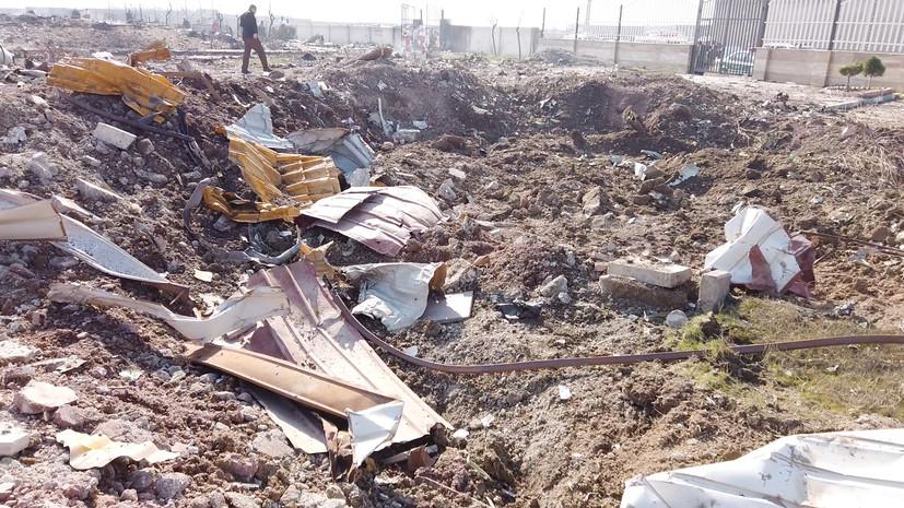 Украина попросила Иран передать ей самописцы со сбитого Boeing