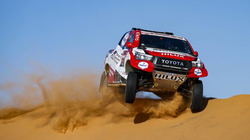 Двукратный чемпион «Формулы-1» Алонсо попал в аварию на десятом этапе ралли-рейда «Дакар»