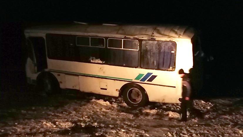 В ДТП с автобусом в Ульяновской области пострадали 13 человек