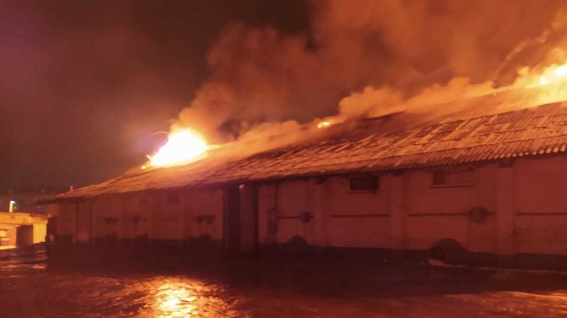 Пожар на зерновом складе под Тулой локализован