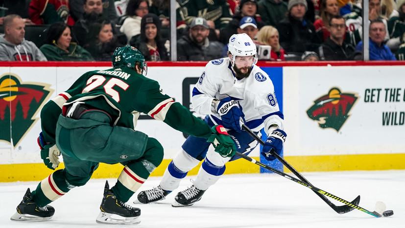 «Тампа» проиграла «Миннесоте» в НХЛ, несмотря на дубль Кучерова