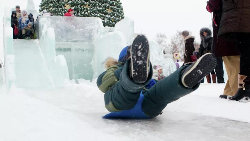 В Челябинске из-за тепла в ледовых городках закрыли горки для катания