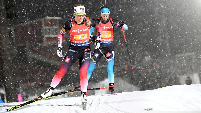 Сборная Норвегии по биатлону победила в эстафетной гонке на этапе КМ в Германии