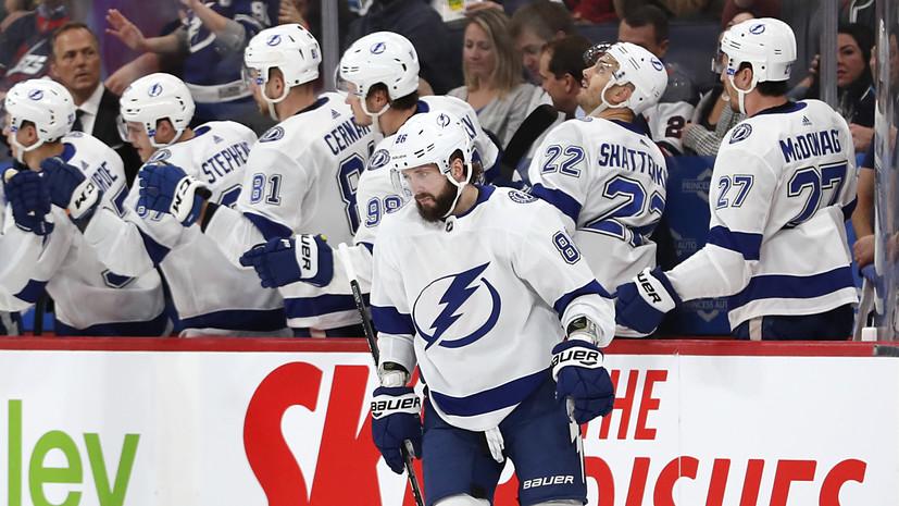 Дубль Кучерова помог «Тампе» разгромить «Виннипег» в НХЛ