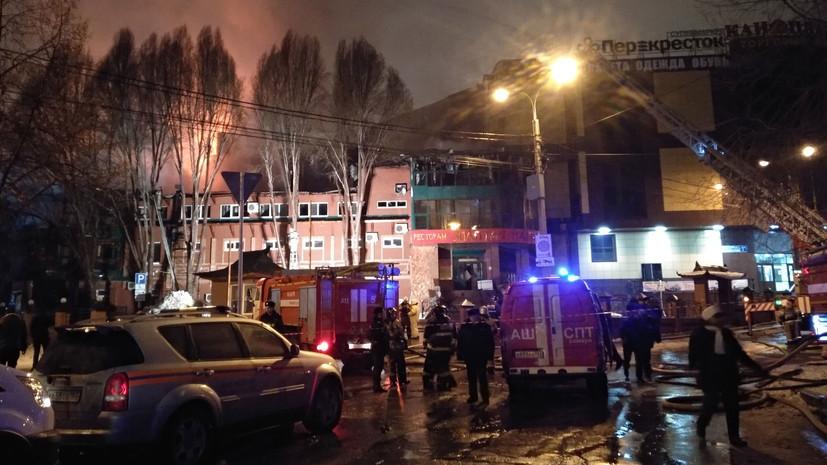 Спасатели ликвидировали крупный пожар в ресторане в Самаре