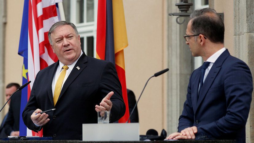 Помпео и Маас обсудили ситуацию в Ливии