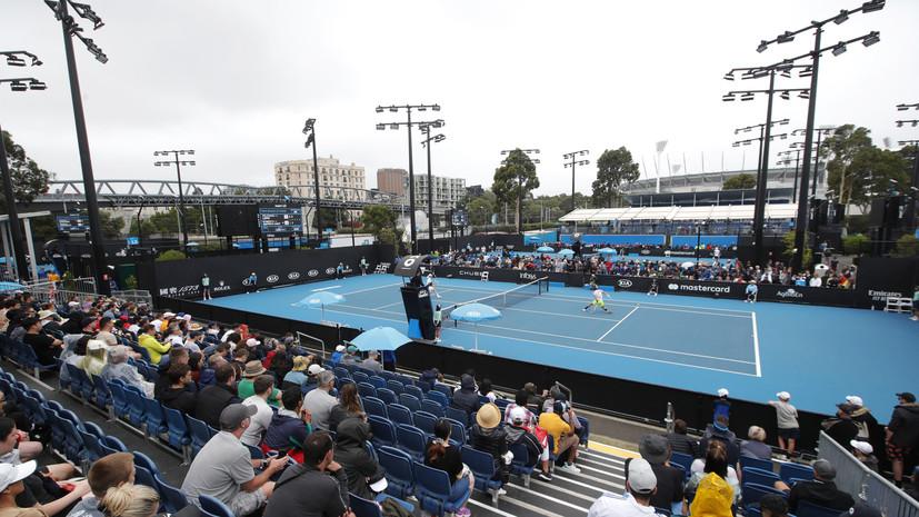 Ряд матчей первого круга Australian Open перенесён из-за дождя