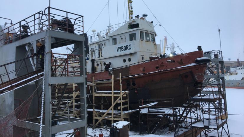 В Архангельске рассказали опроверке после возгорания на судне «Выборг»