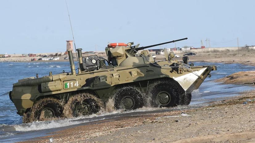 Морпехи ЧФ отработали противодесантную оборону морского побережья