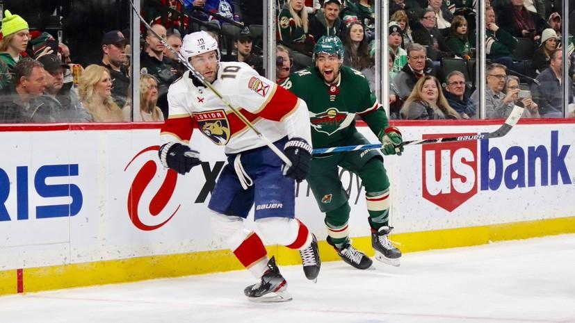 Шайба Дадонова и 29 сейвов Бобровского помогли «Флориде» обыграть «Миннесоту» в НХЛ
