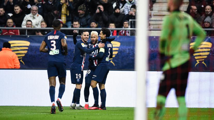 ПСЖ сыграет с «Лионом» в финале Кубка французской лиги