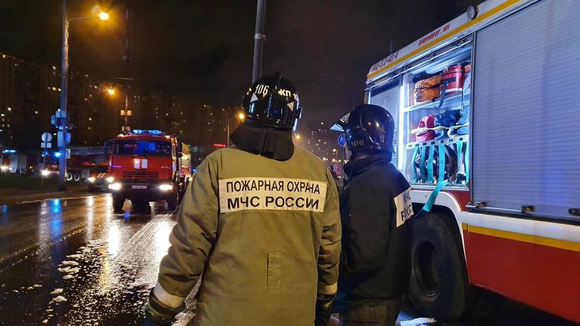 В Москве при пожаре пострадали два человека