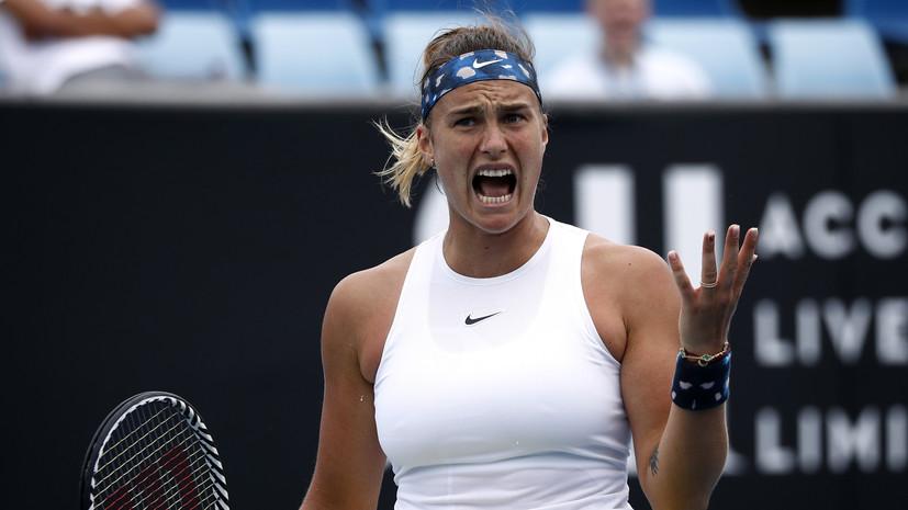 Теннисистка Соболенко обратилась в полицию из-за комментария в Instagram