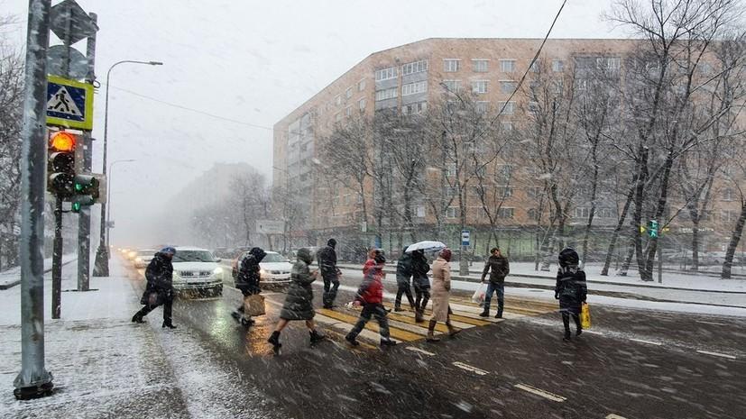 Жителей Москвы предупредили о сильном ветре и осадках 25 января