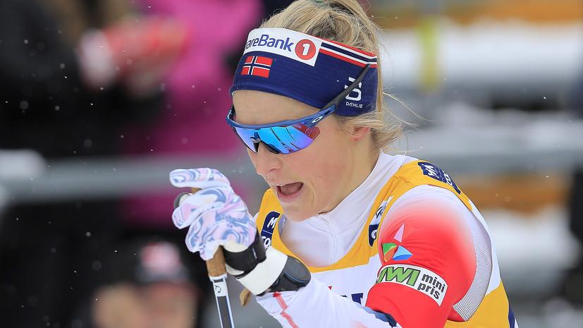 Йохауг победила в скиатлоне на этапе КМ в Оберстдорфе, Непряева — шестая