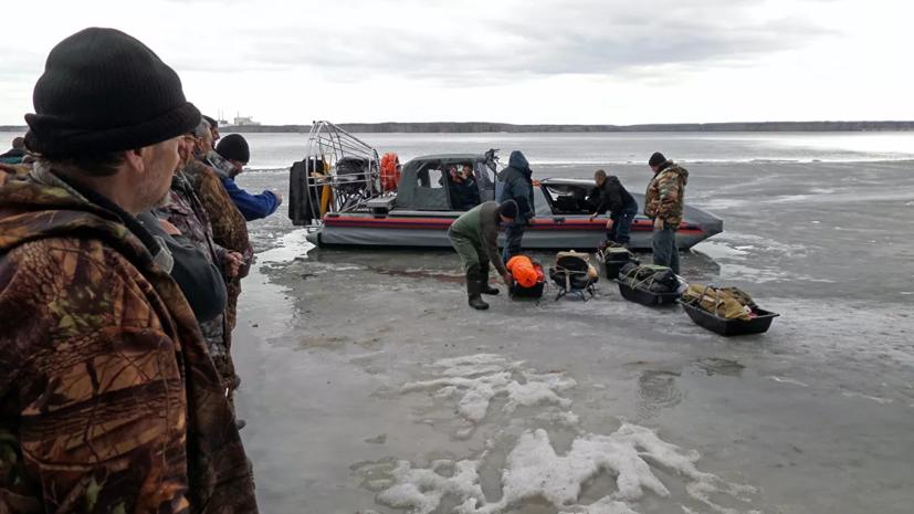 Все рыбаки эвакуированы со льдины в Сахалинской области