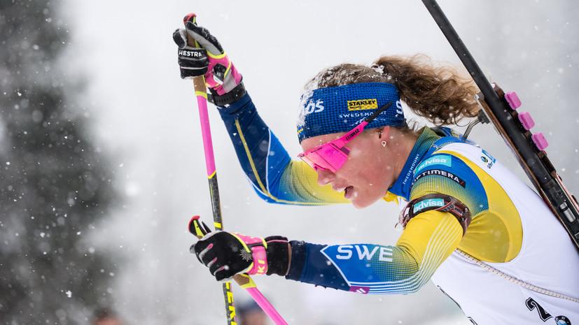 Эберг выиграла масс-старт на этапе КМ по биатлону в Поклюке, Миронова — 19-я
