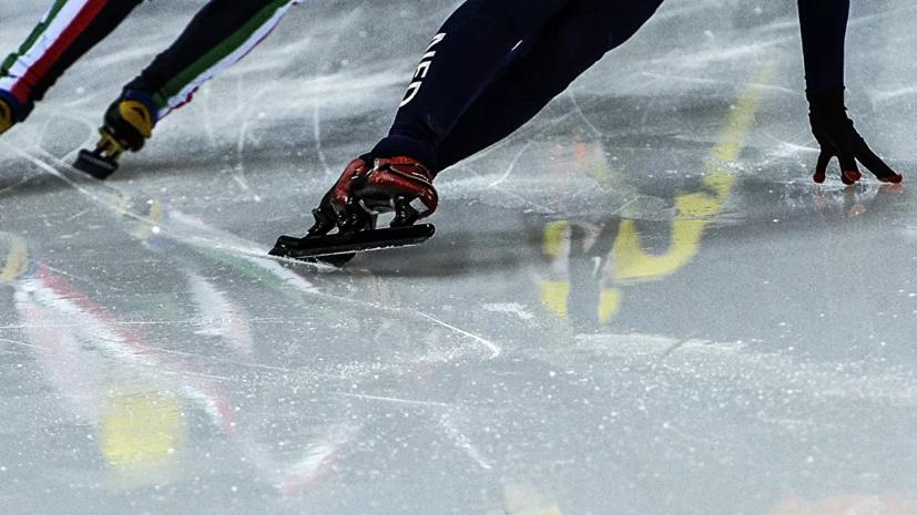 Мужская сборная России выиграла эстафету на этапе КМ по шорт-треку