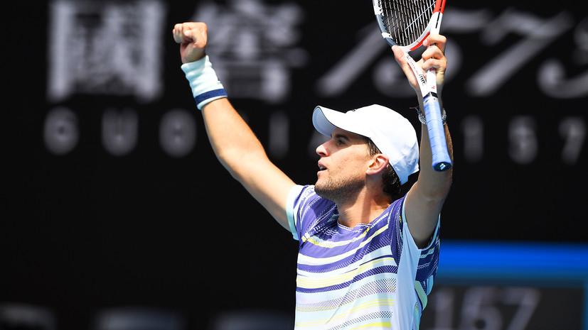 Австрийский теннисист Тим впервые вышел в 1/4 финала Australian Open