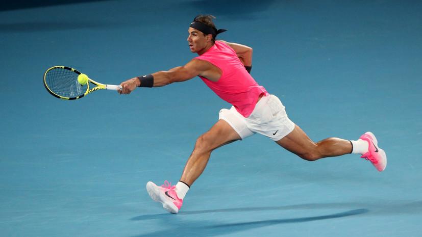 Надаль взял верх над Кирьосом и вышел в четвертьфинал Australian Open
