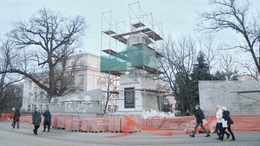 В Краснодаре рассказали о реставрации памятника воинам-освободителям