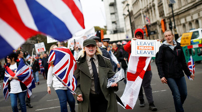 Сторонники брексита в Великобритании