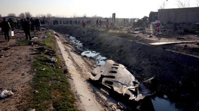 В Киеве обнародовали данные о гражданстве жертв авиакатастрофы в Иране