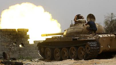 Бои в районе Триполи, июнь 2019 года