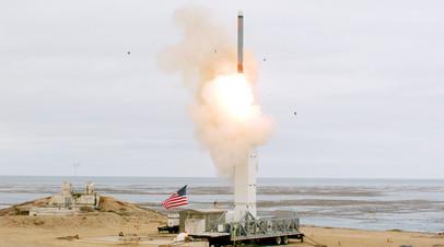 Запуск крылатой ракеты США